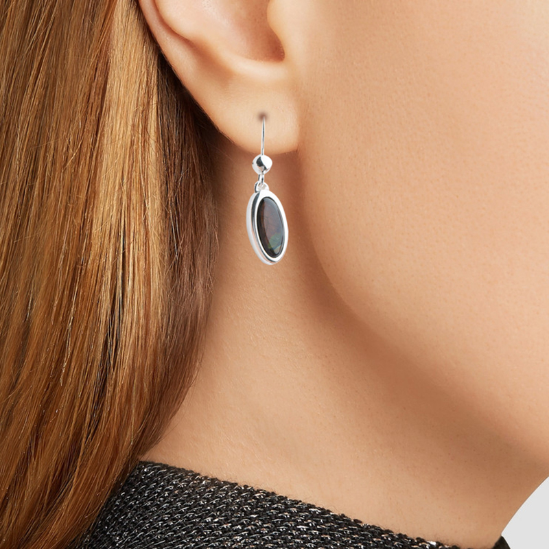 芬兰原产SPEKTRIKORU 饰品光谱石Classic耳坠耳钉耳饰银耳针 彩色