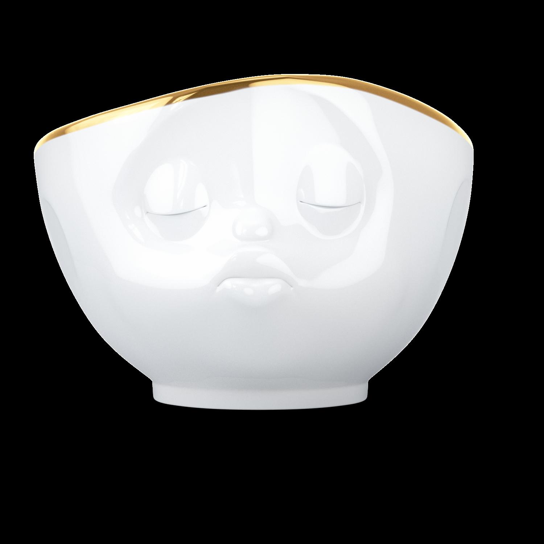 德国原产Tassen陶瓷卡通表情碗金边碗创意碗500ml 亲吻
