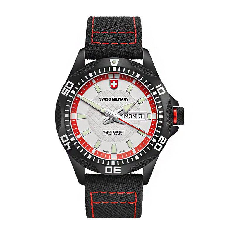 瑞士原产CHARMEX 运动系列手表男表潜水表简约时尚商务休闲 黑色