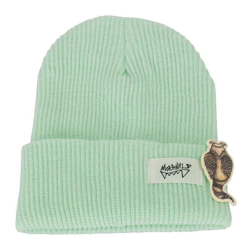 韩国原产MORAN YI_F男女四季帽子毛线帽韩版运动帽 蓝绿