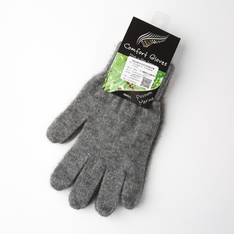 新西兰COMFORT SOCKS美利奴羊毛手套五指手套全指手套 灰色 L
