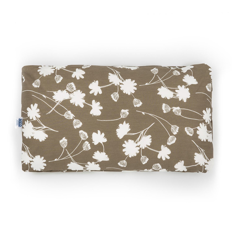 德国原产CORPOMED 纯棉休息枕枕套 单人枕头套 褐花