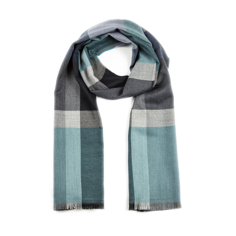 意大利原产MA.AL.BI. 羊毛围巾 蓝色
