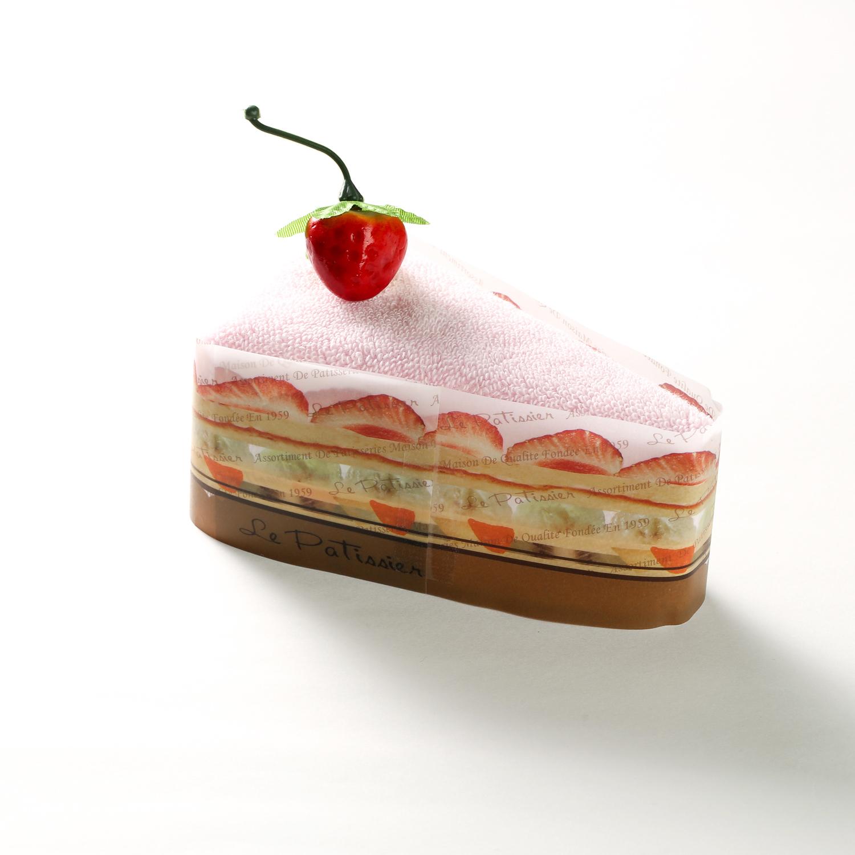 日本原产PRAIRIE DOG棉质毛巾三角蛋糕毛巾手帕25×25cm 粉色