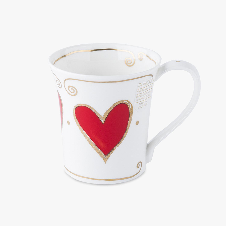 英国原产DUNOON丹侬骨瓷马克杯水杯Jura型22k黄金饰面 红色
