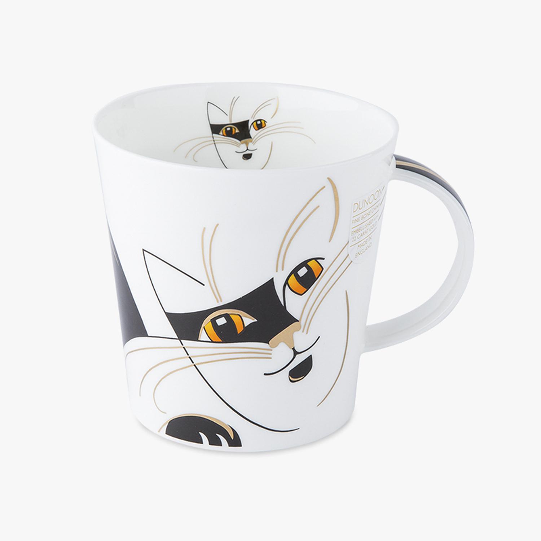 英国原产DUNOON丹侬骨瓷马克杯情侣水杯Cairngorm杯型朋克猫 黑色