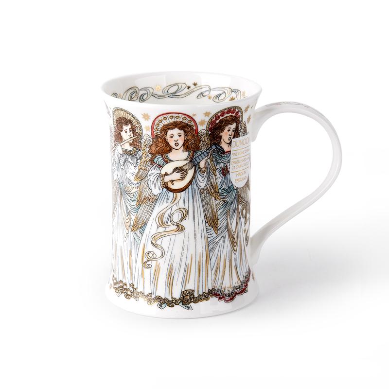英国Dunoon骨瓷Rothesay杯型0.33L飞翔的天使22K黄金饰面 混色