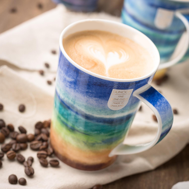 英国DUNOON丹侬 argyell型骨瓷茶杯水杯马克杯海洋边界 绿色