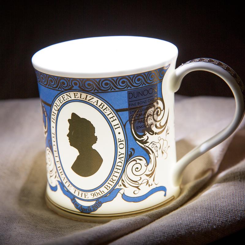英国DUNOON丹侬骨瓷杯马克杯女王头像
