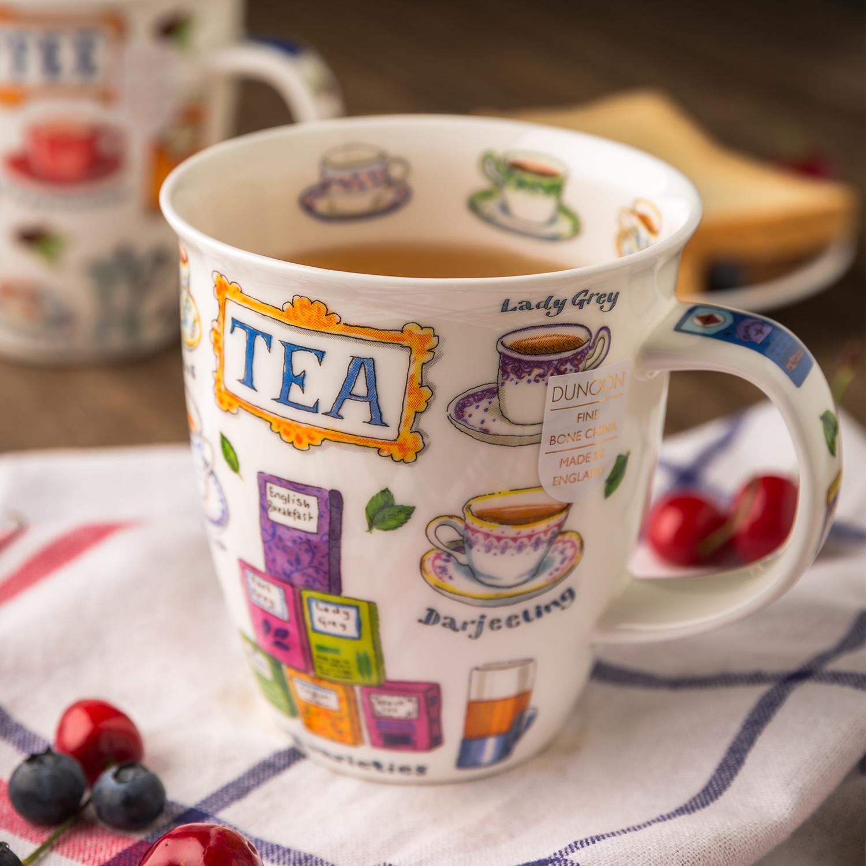 英国原产DUNOON丹侬 Nevis型骨瓷茶杯水杯 骨瓷马克杯