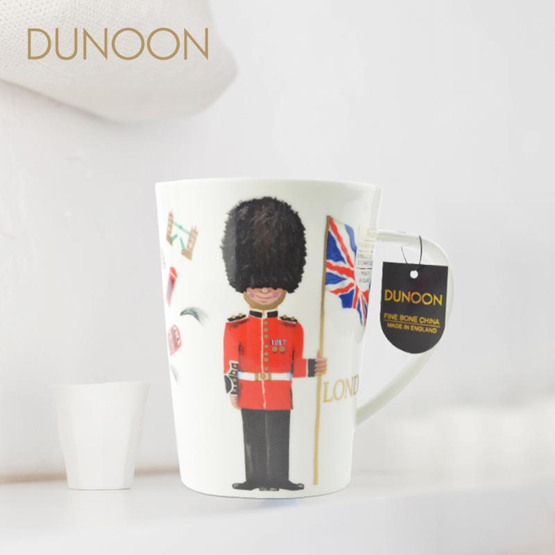 英國原產DUNOON丹儂Argyll型骨瓷茶杯水杯馬克杯倫敦衛兵 白色