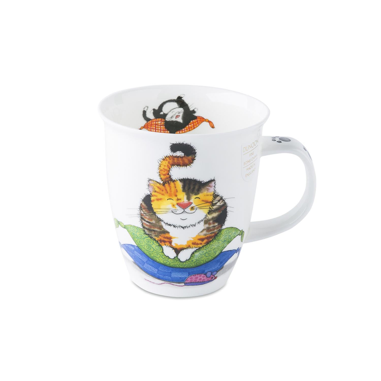 英国原产丹侬Dunoon骨瓷马克杯水杯小懒猫 玳瑁色