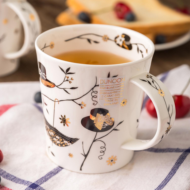 英国原产DUNOON丹侬lomond型骨瓷茶杯水杯马克杯时尚礼帽 混色