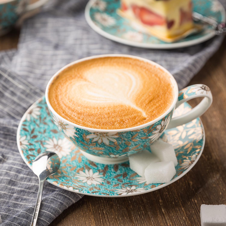 英国原产DUNOON丹侬 骨瓷茶杯 骨瓷水杯 茶具 黄金饰面 一杯一碟