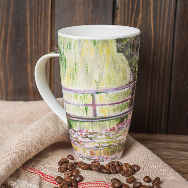 英国原产DUNOON莫奈小桥骨瓷杯