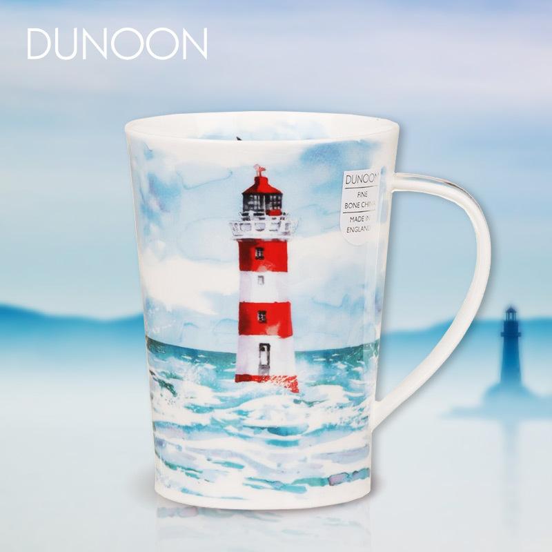 英國原產DUNOON丹儂Argyll型骨瓷茶杯水杯馬克杯隱居地 藍色