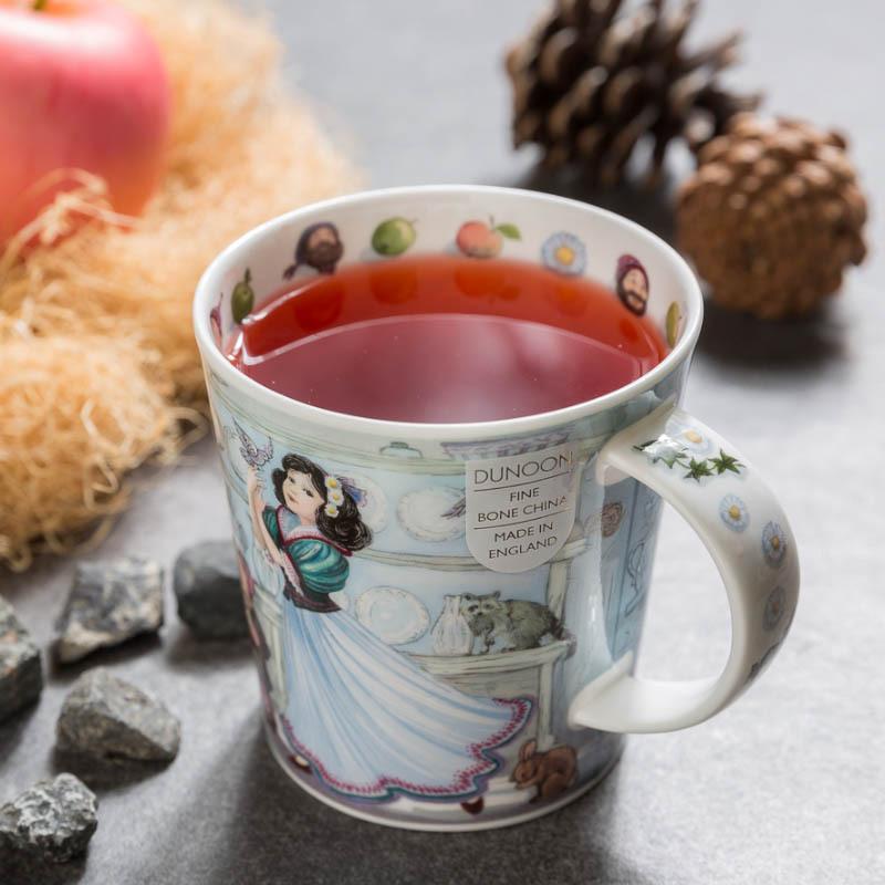 英國原產DUNOON丹儂 骨瓷馬克杯 童話係列 白雪公主 彩色