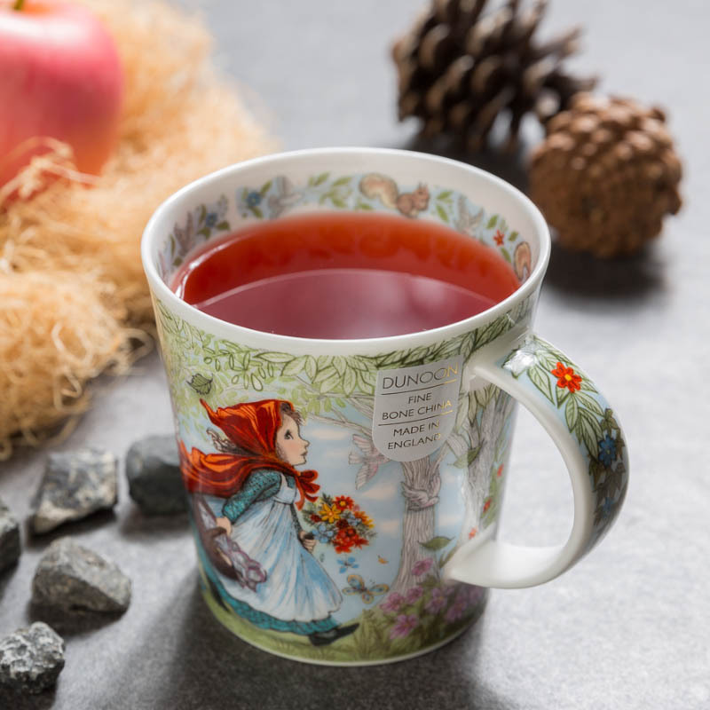 英国原产DUNOON丹侬 骨瓷马克杯 童话系列 小红帽 彩色