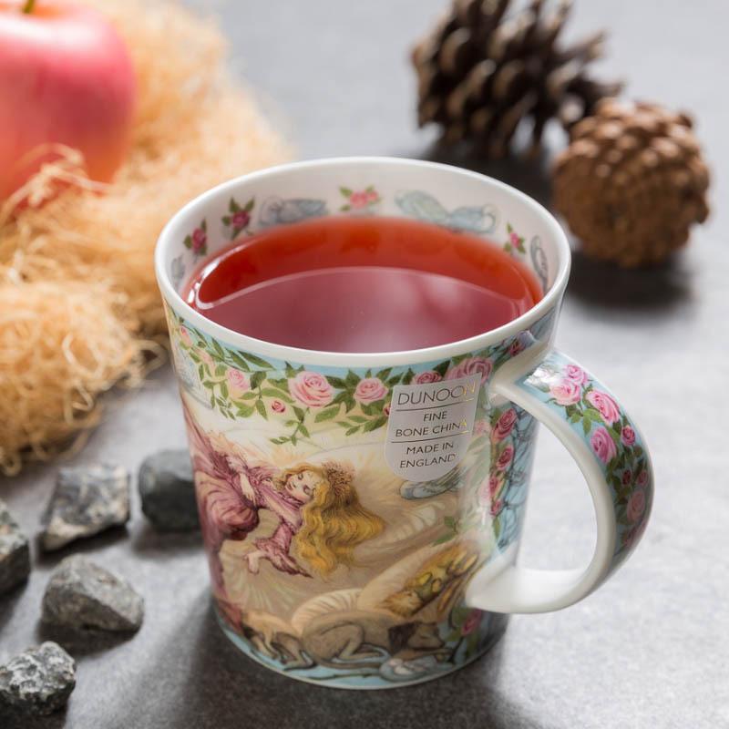 英国原产DUNOON丹侬骨瓷马克杯童话系列睡美人 彩色