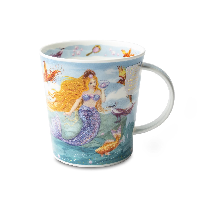 英国DUNOON丹侬骨瓷马克杯 美人鱼 彩色