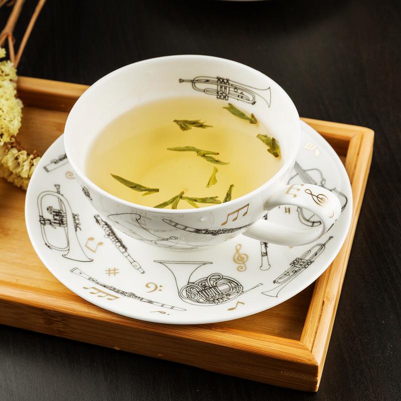 英国原产DUNOON丹侬 22K黄金饰面骨瓷茶杯 茶壶 茶具套装 混色