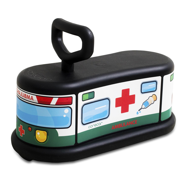 韩国原产corecar可坐人儿童玩具车五轮小车静音平衡车 救护车