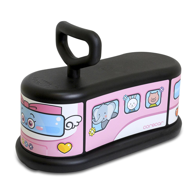 韩国原产corecar可坐人儿童玩具车五轮小车静音平衡车 爱心车