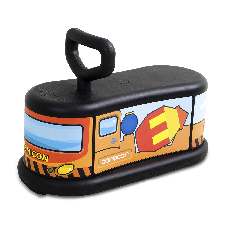 韩国原产corecar可坐人儿童玩具车五轮小车静音平衡车 陆军学院车