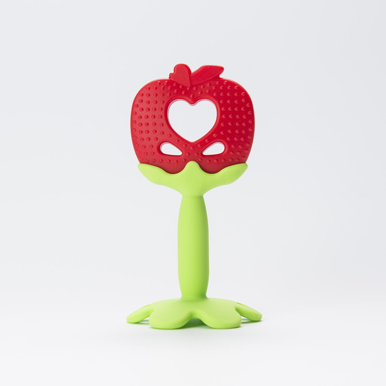 韩国原产Mathos Loreley宝宝牙胶咬胶磨牙棒 红色苹果
