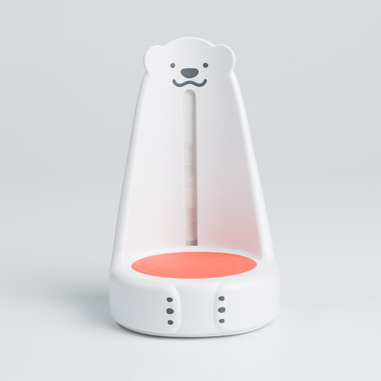 韩国原产nounours北极熊看护宝宝小夜灯多功能看灯 橙色