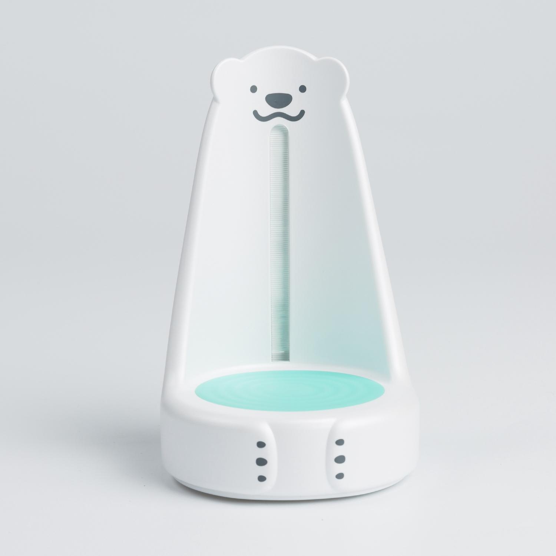 韩国原产nounours北极熊看护宝宝小夜灯多功能看灯 绿色