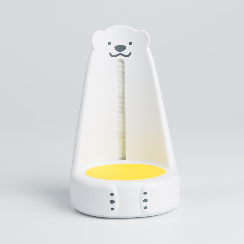 韩国原产nounours北极熊喂奶灯看护宝宝小夜灯 黄色