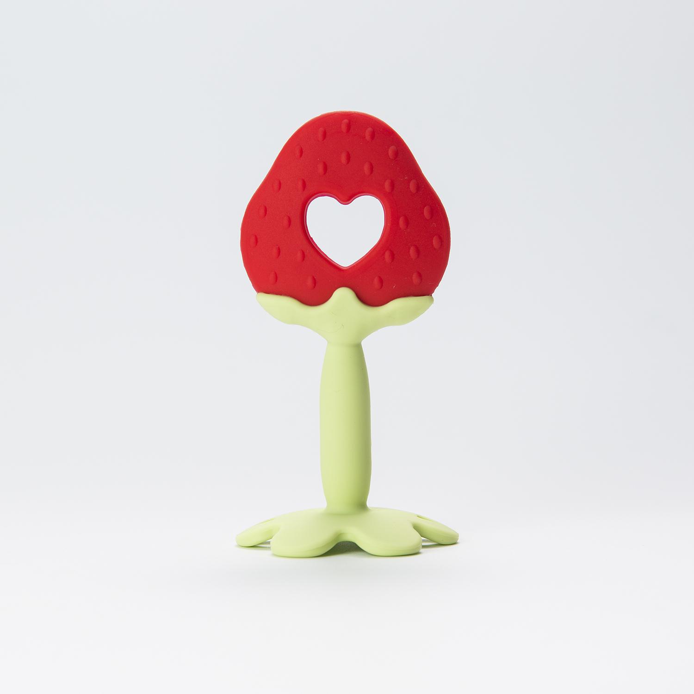 韩国原产Mathos Loreley宝宝牙胶咬胶磨牙棒 红色草莓