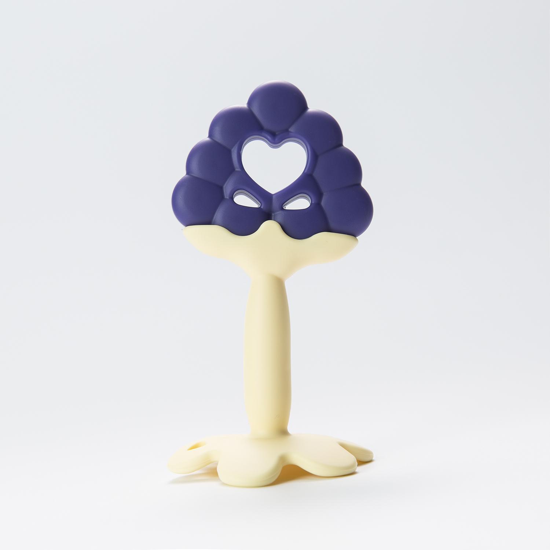 韩国原产Mathos Loreley宝宝牙胶咬胶磨牙棒 紫色葡萄