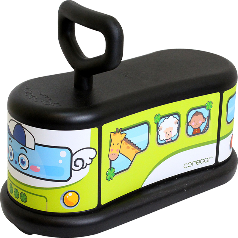 韩国原产corecar可坐人儿童玩具车五轮小车静音平衡车 开心车