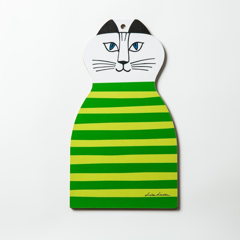 瑞典原产Optodesign 米琪猫系列木质切菜切水果砧板菜板 绿色