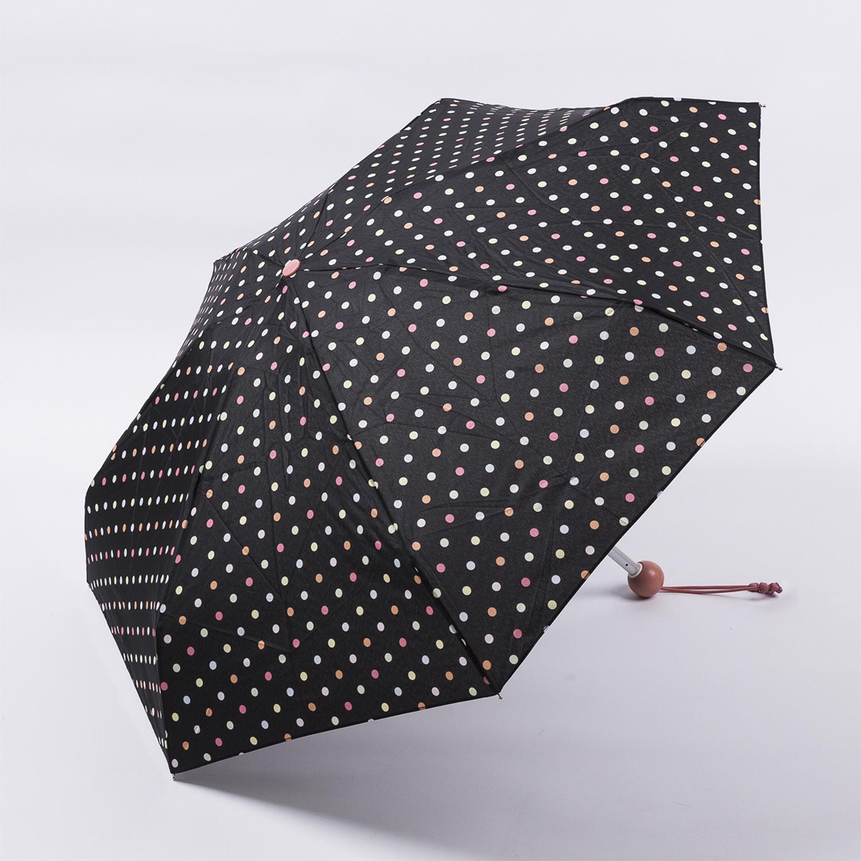 法国源产Guy de Jean女士折叠伞 斑点世界 黑色