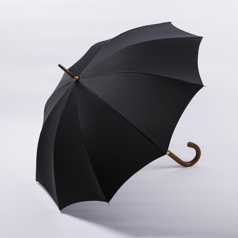 法国源产Guy de Jean男士绅士商务长柄雨伞 黑色
