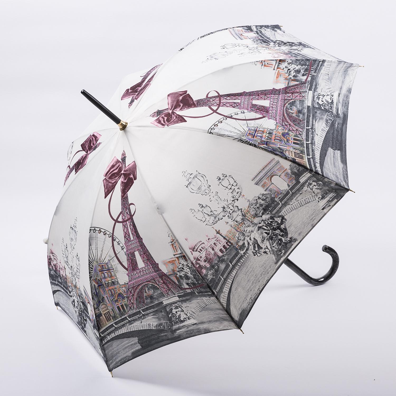 法国原产Guy de Jean女士长柄晴雨伞防晒遮阳伞  最美巴黎 浅粉色