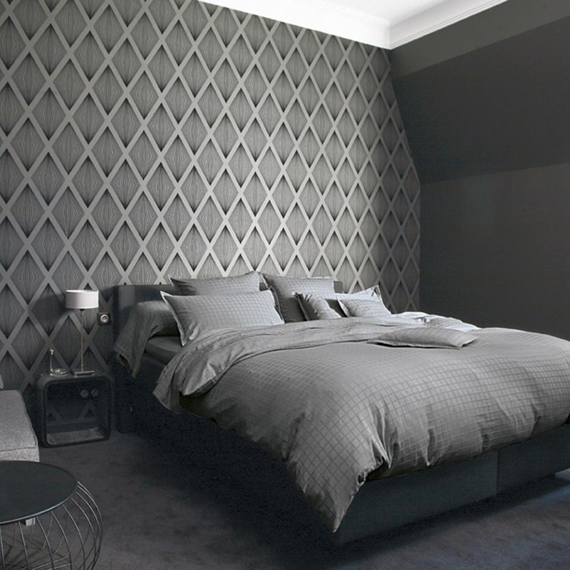 法国原产BLANC DES VOSGES贡缎提花灰色宫殿枕套 单只装 深灰