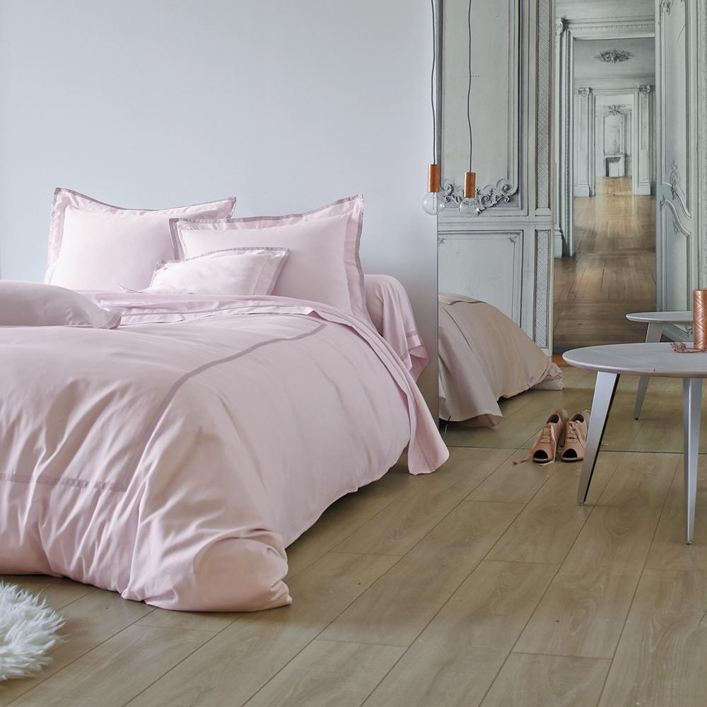 法國 BLANC DES VOSGES 緞紋棉縫紉粉色四件套(禮盒裝) 粉紅