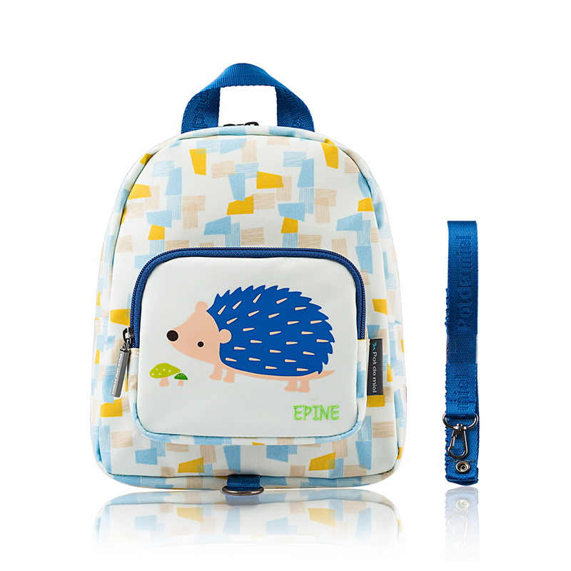 韩国原产Pot de miel儿童防水防走失背包书包双肩包3-8岁适用 刺猬图案