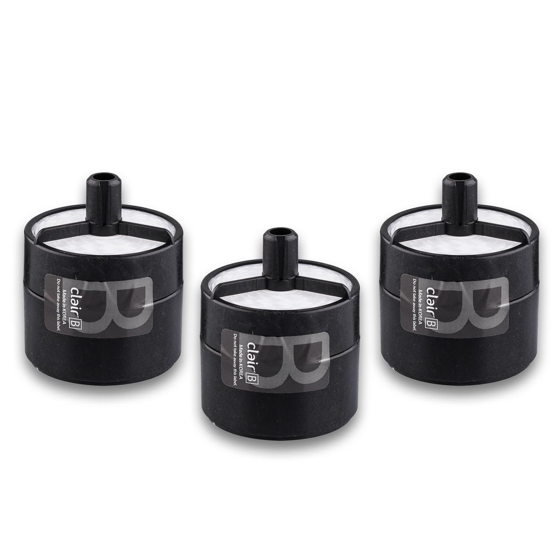 韩国原产clair B家用便携式车载空气净化器滤芯(3个装) 黑色