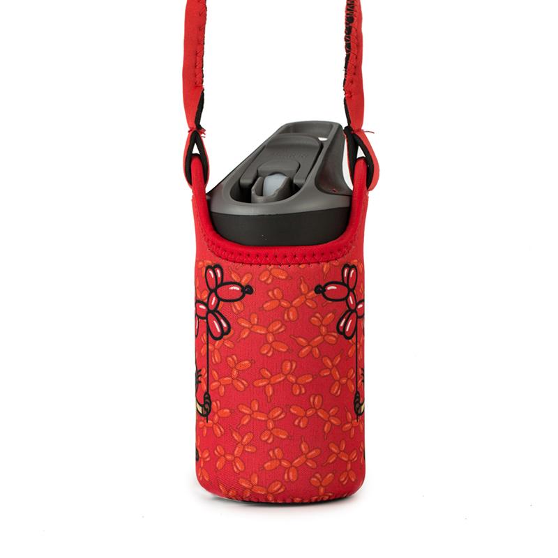 西班牙原产LAKEN 不锈钢保温水杯儿童水杯(便携防护袋) 红色