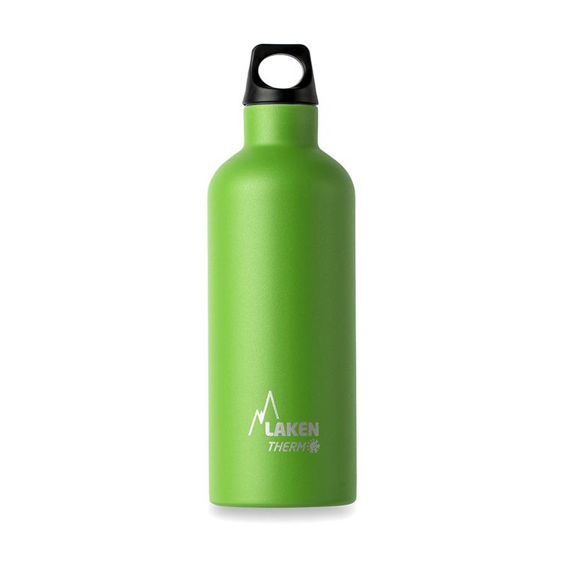 西班牙原產LAKEN 不鏽鋼登山水壺水杯 綠色
