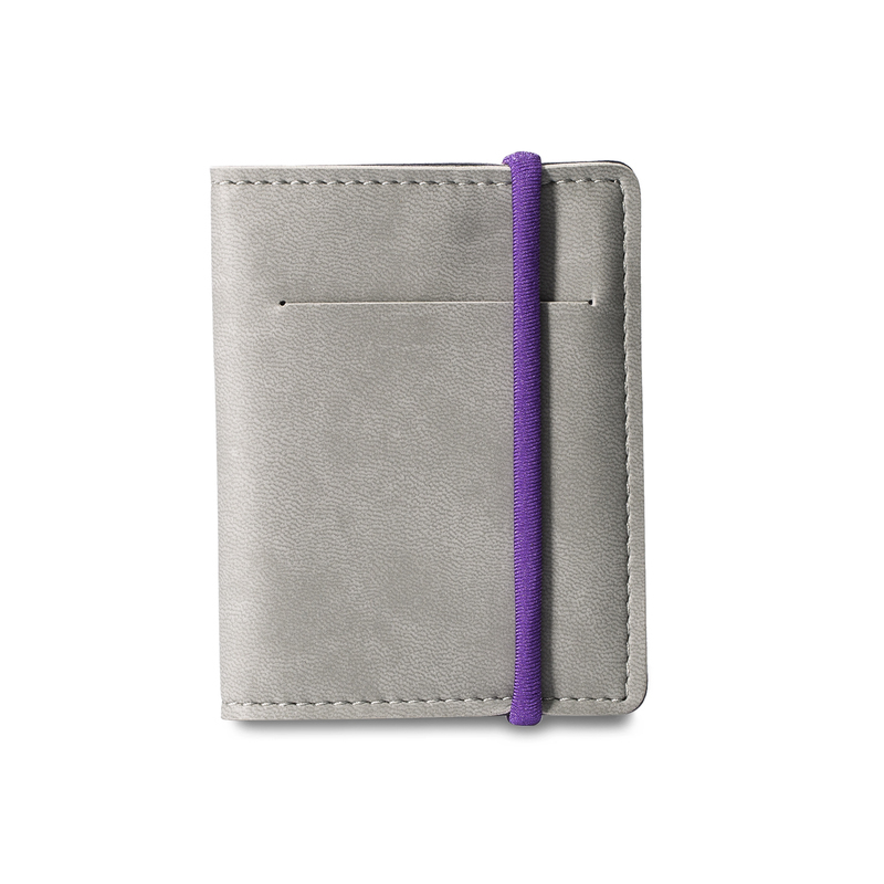 意大利原产Reflexa维耶勒法兰绒钱包钱夹短款7.5*10cm 灰色