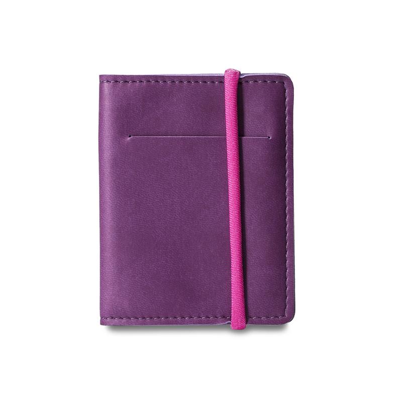 意大利原产Reflexa维耶勒法兰绒钱包钱夹短款7.5*10cm 紫色