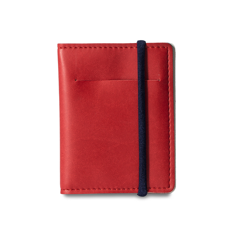 意大利原产Reflexa维耶勒法兰绒钱包钱夹短款7.5*10cm 红色