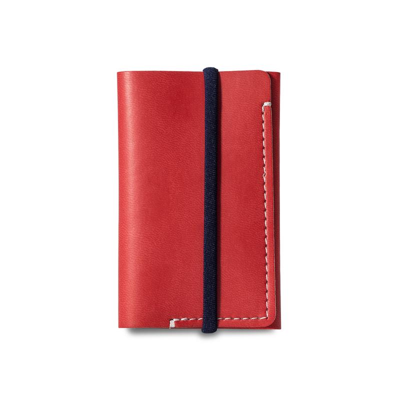 意大利原产Reflexa简约维耶勒法兰绒钱包钱夹短款6*9.5cm 红色