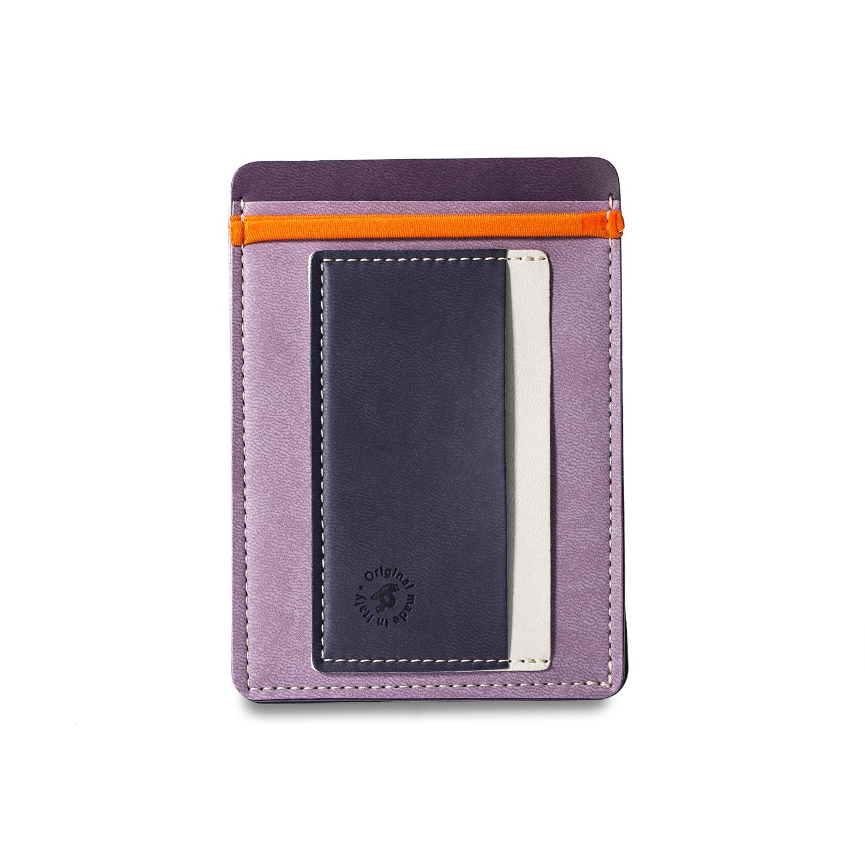 意大利原产Reflexa意式维耶勒法兰绒钱包钱夹9*12.5cm 浅紫